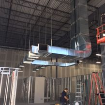 industrial duct work installation